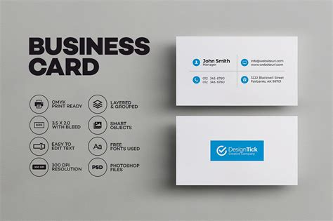 Simple Business Card Website Template by Simple Clean Business Card Business Card Templates
