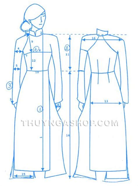 ao dai pattern measurement for ao dai 193 o d 224 i traditional vietnamese