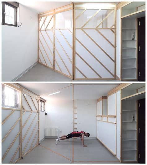Origami Apartment Japan This Tiny Minimalist Apartment Has An Origami Wall That