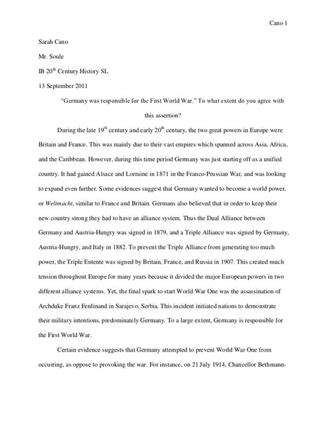 1 Page Essay Describe How Ww1 Was A Costly And Global War essay 1 origins of wwi