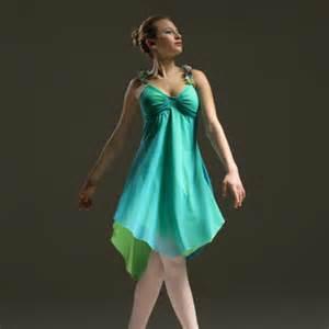 Lyrical soft jazz costume jazz has a resemblance to modern costumes