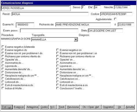 prima pap test screening indicatori di processo