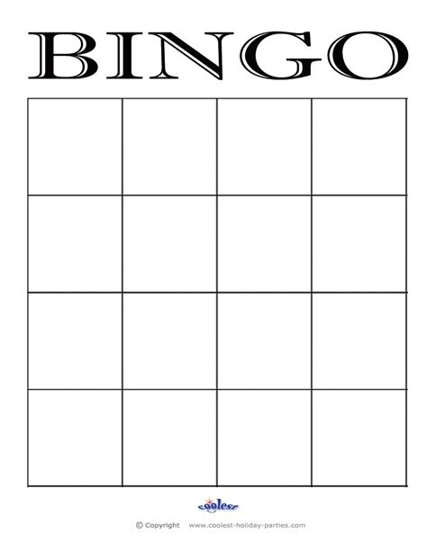 Large Card Template Printable by Bingo Card Template Beepmunk