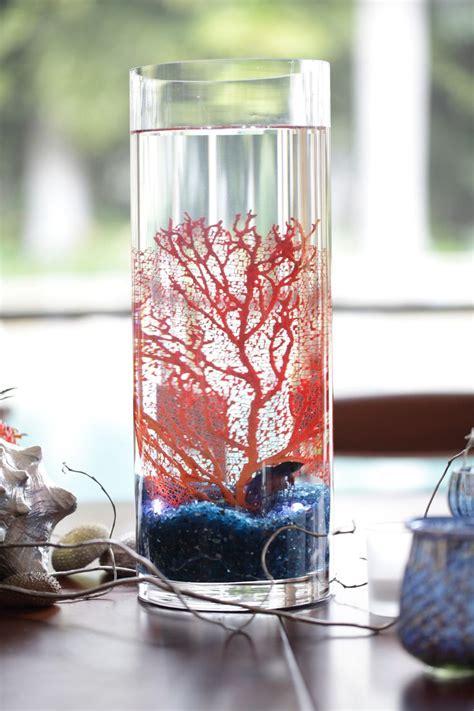 coral and grey wedding centerpieces fish sea fan centerpieces coral and turquoise or coral