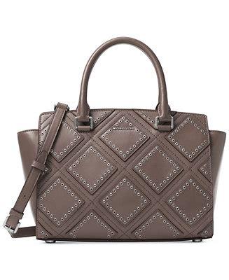 Michael Kors Selma Gromet Medium michael michael kors grommet selma medium top zip satchel handbags accessories macy s