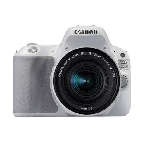 Kamera Canon Eos 7d Kit Ef S 18 135mm jual canon eos 200d kit ef s 18 55mm is stm kamera dslr white harga kualitas
