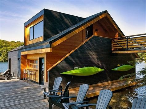 wood house design charming lake house on lake joseph canada by altius