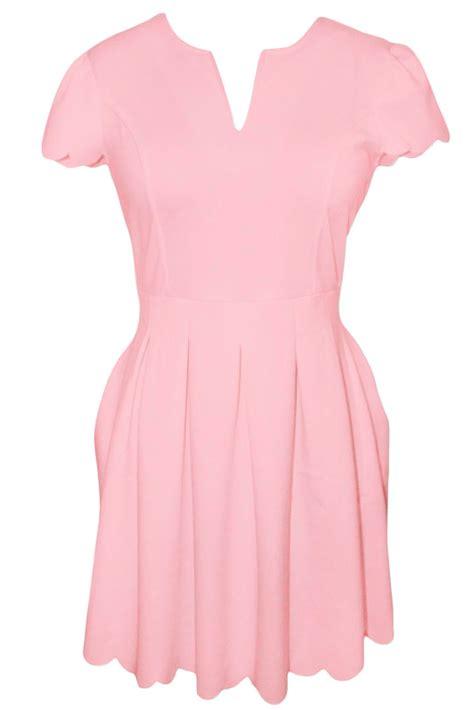 Sweet Pleats Dress sweet scallop pleated skater dress stage brief summer zip ebay