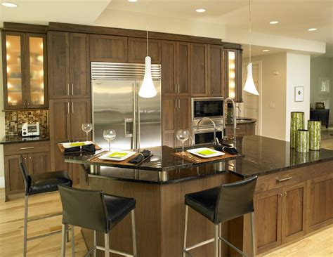 Stainless Steel Kitchen Island Lighting Dishy Walnut Kitchen Cabinets With Ceiling Lighting Island Stainless Steel Appliances