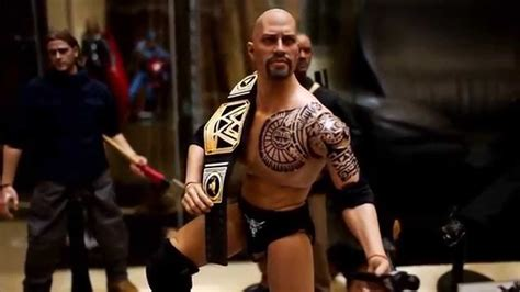 wwe universal hot video hot toys ttm20 cian the rock 1 6 12 quot custom figure youtube