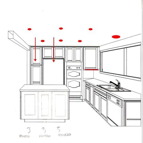 proper layout of a kitchen recessed lighting kitchen layout google search עיצוב