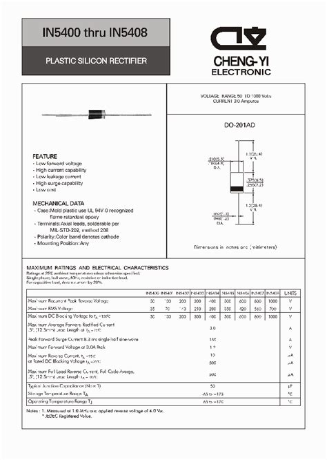 in5401 diode datasheet in5408 4525768 pdf datasheet ic on line