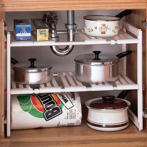 Under Sink Kitchen Shelf Under Sink Storage Miles Kimball Kitchen Sink Storage