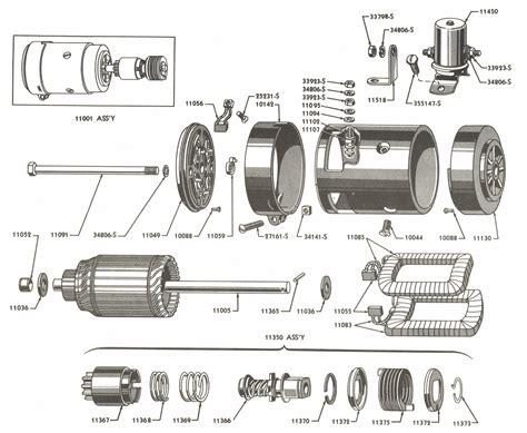starter motor parts diagram starter parts for ford 9n 2n tractors 1939 1947