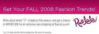 Contest Alert Write For Tbf by Fashion Trend Guide August 2008