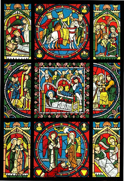 French Design clipart stained glass window 3