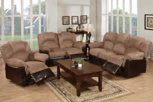 furniture 3 motion loveseat sofa recliner brown