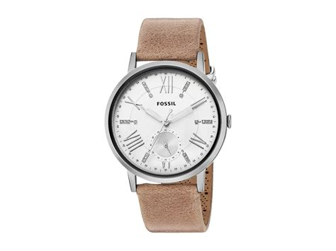 Fossil Leather fossil gazer leather es4162 at zappos