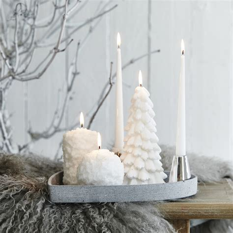 christmas tree decorative candle by lene bjerre festive