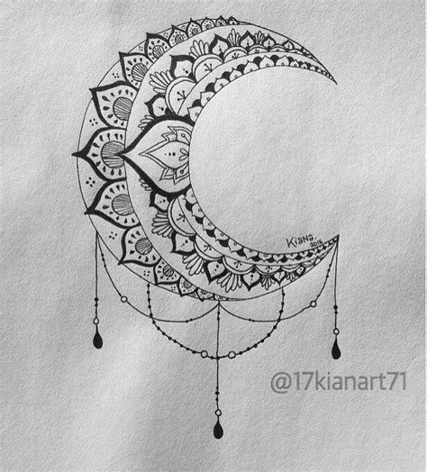 pattern moon drawing moon mandala tattoos pinterest moon mandala mandala