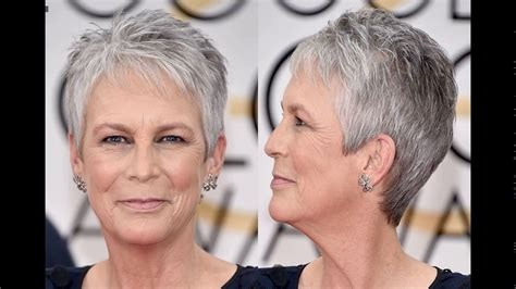 curtis haircut back view jamie lee curtis short haircut style youtube
