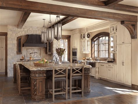 Tuscan Kitchen Island by Old World Inspired Kitchen With Distressed Cabinets Beck