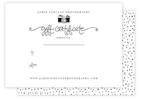 free 4x5 5 card template photography gift certificate template by schultz