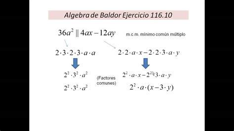 descargar algebra de baldor con solucionario gratis youtube clases de matematicas online ejercicio algebra de baldor