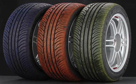 colored tires for cars why are car tires black anyways