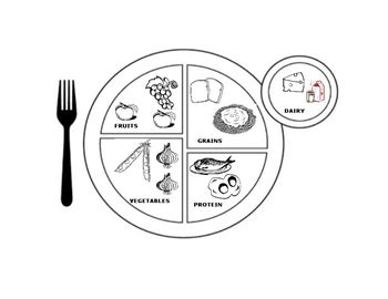 coloring page for my plate choose my plate activities english by miss sandy lewis tpt