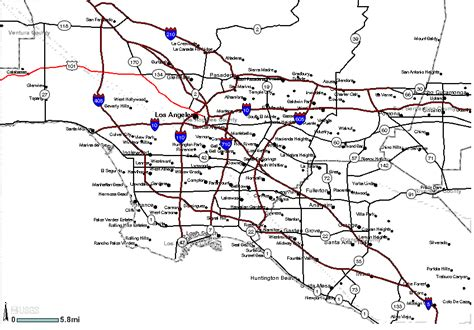 printable map of la area lax zip code search the maptechnica printable map catalog