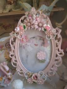 silver frame painted pink and embellished repurposed renew redo pinterest belle shabby