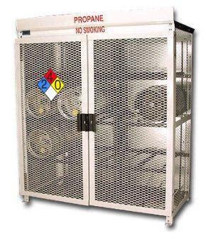 8 forklift propane tank cage for outdoor forklift propane