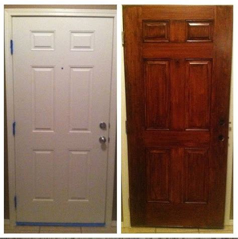 How To Stain An Interior Door Gel Stain Did Wonders For Our Plain White Door General