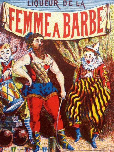 bearded circus vintage circus bearded liqeuer bottle print clown
