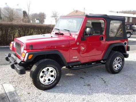 Jeep Wrangler For Sale In Indiana 2006 Jeep Wrangler For Sale In Indiana Carsforsale