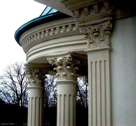 ionic flat pilaster capital  architectural foam