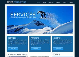 The Consultant Old Website Template Wix Static Html Website Templates