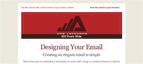 design header mailchimp tutorial for creating a custom email template in mailchimp