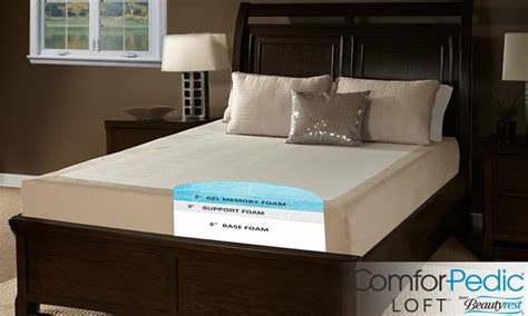 Comforpedic Mattress Review by 11 Quot Gel Memory Foam Mattress Groupon Goods