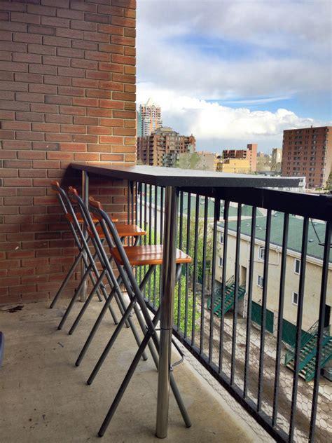 Patio Bar Height Table Balcony Bar Ikea Hackers