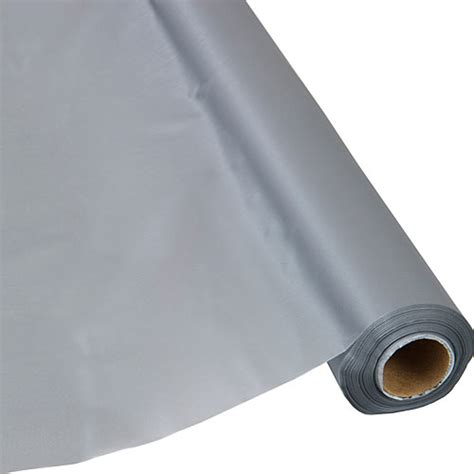Plastic Table Cover Rolls by Silver Plastic Table Cover Roll
