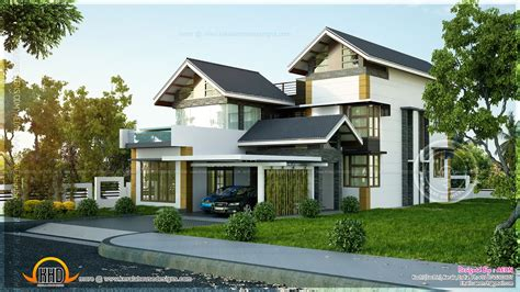 contemporary hillside house plans