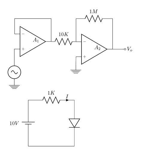 latex circuitikz tutorial how to draw this circuit with circuitikz tex latex