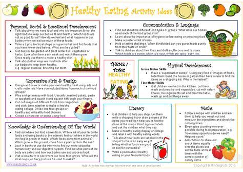 activities ideas healthy activity ideas sheet mindingkids
