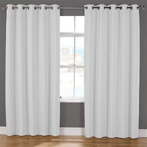 White Valance Curtains Naples White Luxury Lined Eyelet Curtains Pair Julian Charles