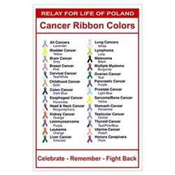 relay for cancer ribbon colors poster