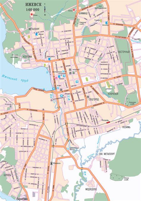 russia izhevsk map map of izhevsk city maps of russia planetolog