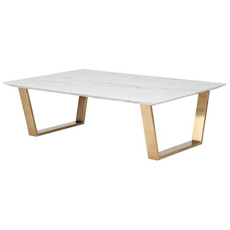 marble gold coffee table catrine modern marble coffee table white gold