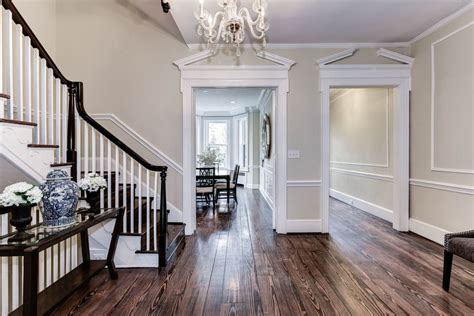Dining Room With Chair Rail hardwood entryway flooring ideas stabbedinback foyer